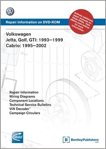 Volkswagen Jetta Golf Gti 1993 1994 1995 1996 1997 1998 1999 Repair Manual On Dvd Rom Windows 2000 Xp Volkswagen Of America 9780837612638 Amazon Com Books