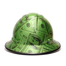 HardHatGear Custom Hydro Dipped VENTED Full Brim Hard Hat in Mad Money - Made in USA