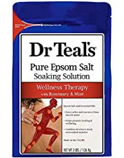 Dr. Teal's Epsom Salt Soaking Solution, Rosemary and Mint, 48 Ounce (Pack of 4)