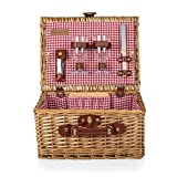 PICNIC TIME Classic Wicker Wine and Cheese Basket