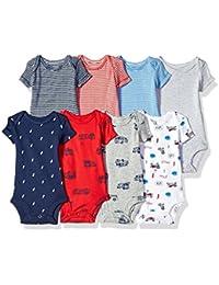 Baby Boys' 8 Pack Short-Sleeve Bodysuits