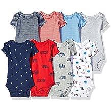 Carter's Baby Boys' 8-Pack Short-Sleeve Bodysuits