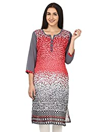 Maple Clothing Indian Kurti Long Tunic Top Womens Georgette Printed Apparel
