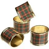 Lenox Nouveau Plaid Napkin Rings, Set of 4