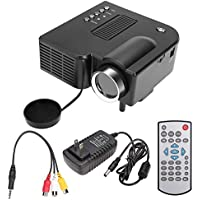Kaluo Mini HD 1080P Home Theater Projector, Portable Home/Office Cinema AV/VGA/USB LED Entertainment Projector(US STOCK)