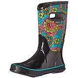 Bogs Girls' Pansies Tall Rain Boot