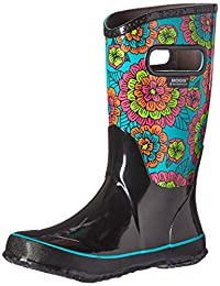 Bogs Girls' Pansies Tall Rain Boot