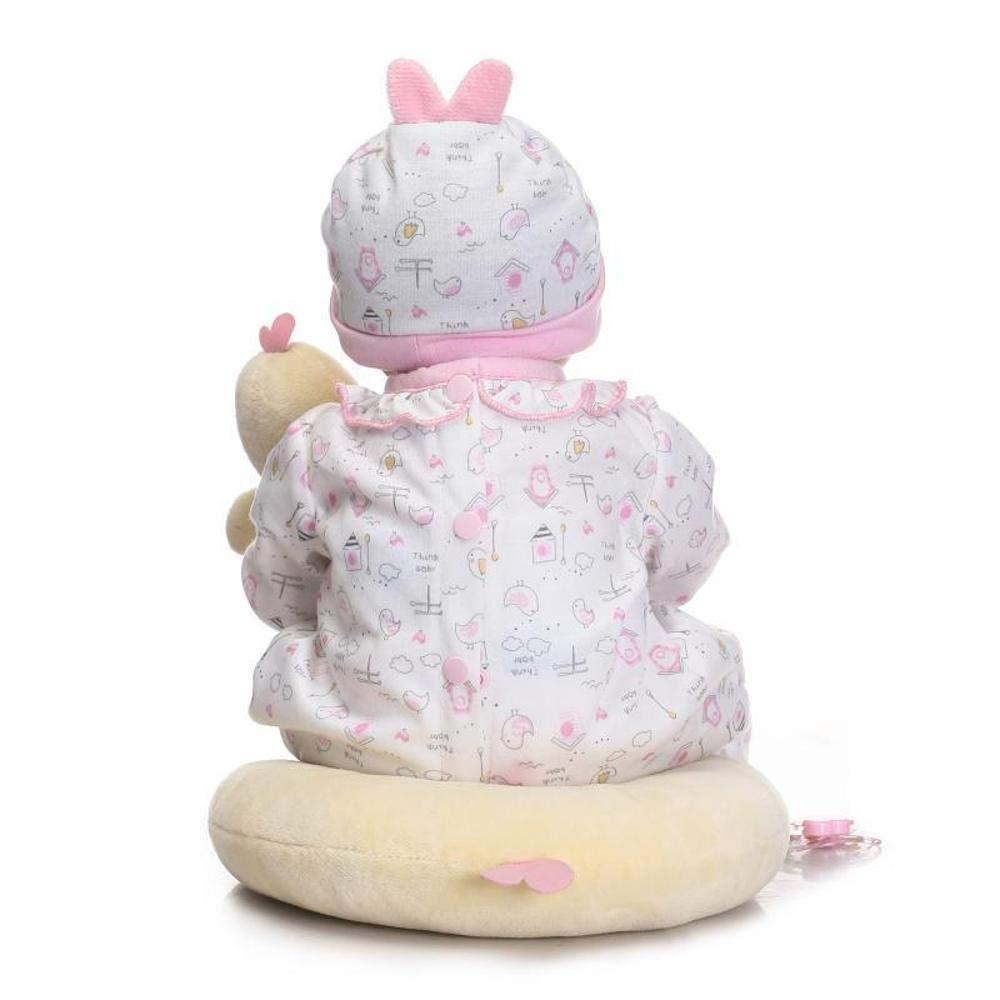 ZHRUIY Babypuppen Geeignet Für 3-14 Jahre Alt Neugeborene Babypuppe Sicherheit Weiches Silikon Lebensecht Körper Erneuerbare Puppe mit Babykleidung Junge Mädchen Festival Geschenk