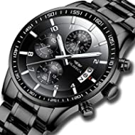 KASHIDUN Men's Watches Luxury Sports Casual Quartz Wristwatches Waterproof Chronograph Calendar...