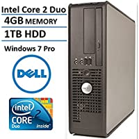 Dell Optiplex 760 Business Small Form Factor Desktop Computer, Intel Core 2 Duo E7500 2.93 Ghz CPU, 4GB DDR2 RAM, 1TB HDD, DVD, Windows 7 Professional (Certified Refurbished)