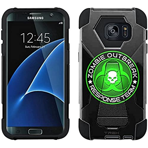 Samsung Galaxy S7 Hybrid Case Zombie OutBreak Response Team Green on Black 2 Piece Style Silicone Case Cover with Stand for Samsung Galaxy S7 Sales