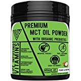Keto MCT Oil with Organic Prebiotic Inulin Fiber, Max Ketosis Boost, Excellent for Sustained Energy, Appetite Control & Gut Health, Easy to Digest, Soluble in Smoothies, Coffee, Tea, Made in USA