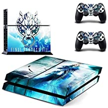 CAN PS4 Console Designer Protective Vinyl Skin Decal Cover for Sony PlayStation 4 & Remote DualShock 4 Wireless Controller Stickers - Final Fantasy