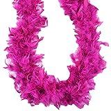 Midwest Design Turkey Feather Chandelle Boa, 2 yd, Raspberry Sorbet