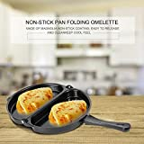 Nonstick Omelet Pan,Baynne Frittata and Omelette Pan Non-Stick Coating