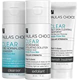 Paula's Choice-CLEAR Regular Strength Acne Travel Kit-2% Salicylic Acid & 2.5% Benzoyl Peroxide-for Moderate Acne of the Face Acne Treatment Skincare Kit with Face Wash, Blemish Treatment, Exfoliator