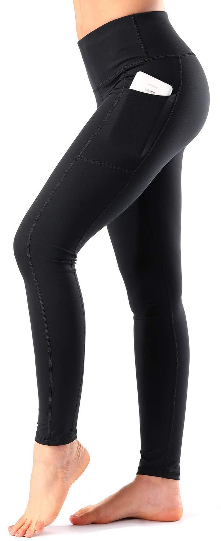 63cdb829299cd Women's High Waist Yoga Pants with Side & Inner Pockets Tummy Control  Workout Running 4 Way