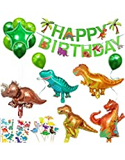 HONGECB Dinosaurus Verjaardag Decoratie Set, Folie Ballon Dinosaurus, Jungle Verjaardagsfeestje Decoratie, Kinderen Verjaardag Decoratie, Voor Kinderen Verjaardagsfeestje Evenement Decoratie