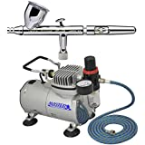 Iwata 4207 HP-CS .35mm Eclipse Airbrush Kit With Airbrush Depot 1 Year Warranty Tankless Compressor and 6 Foot Air Hose Set