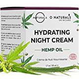 O Naturals Ultra Hydrating Repairing Hemp Oil Night Cream. Anti-Aging Face & Neck Moisturizer. Prevents Dry Cracked Skin, Wrinkles, Soothes Inflammation Boosts Collagen Omega -3 Hyaluronic Acid. 50ml