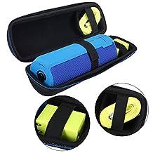 Xberstar Portable Travel Carry Storage hard Case Bag Holder Zipper Pouch for Logitech UE BOOM 2 / 1 JBL FLIP 3 Bluetooth Speaker and Charger