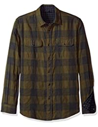 Mens Long Sleeve Gingham/Buffalo Doubleface Reversible Shirt. Tailor Vintage