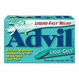 Advil Liqui-Gels  200 mg Ibuprofen, Temporary Pain Reliever / Fever Reducer (16 Count)