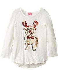 Big Girls' Lightweight Holiday Motif Sweater
