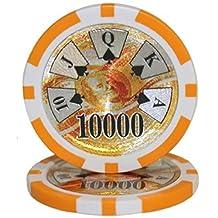 25 $10,000 Ben Franklin 14 Gram Laser Graphic Poker Chips by Brybelly