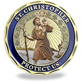 Patron Saint of Travelers St Christopher Challenge Coin For Man