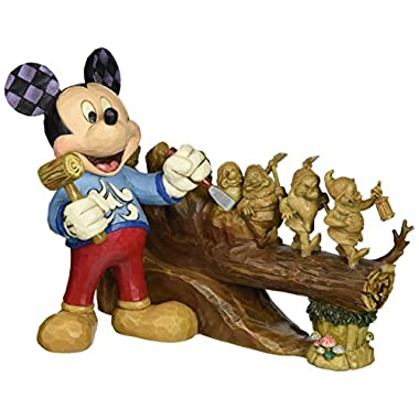 Jim Shore for Enesco Disney Traditions Ten Year Anniversary Piece Figurine, 7.75
