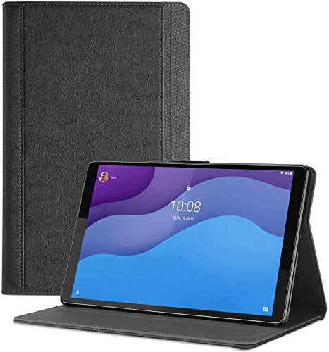 """ProfessionalCase Lenovo Tab M10 HD second Gen Case 10.1 Inch 2020 (Model: TB-X306F TB-X306X), Leather Stand Folio Protective Case Smart Cover for Lenovo Tab M10 HD 10.1"""" Tablet 2020 Release -Black"""