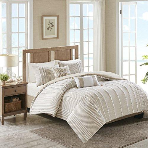 "Harbor House Anslee Comforter Set, King/Cal King(110""x96""), Pom Pom Taupe"