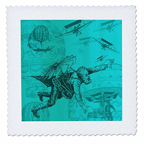 3dRose Steampunk Flying Machines Hot Air Balloons