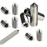 50pcs M5 ( 5mm ) A2 STAINLESS STEEL CONE POINT GRUB SCREWS HEX SOCKET SET SCREW DIN914