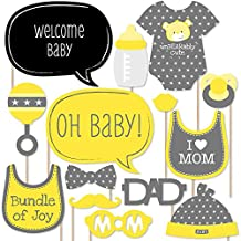 Baby Neutral - Baby Shower Photo Booth Props Kit - 20 Count