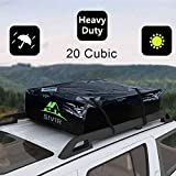 Car Roof Bag Protective Mat 100% Waterproof& Coated Zippers 15 Cubic ft for Cars with or Without Racks