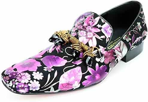 6dcf3d6c444 Fiesso by Aurelio Garcia FI-7255 Black Multi Color Slip on Loafer -  European Shoe