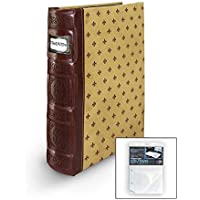 Bellagio-Italia Crimson DVD Storage Binder - Stores Up To 80 DVDs, CDs, or Blu-Rays - Stores DVD Cover Art - Acid-Free Sheets