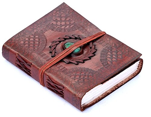 Phoenix Craft Leather Journal Bound 8×6 turquoise celtic design Handmade Diary gift book sketchbook Christmas gifts