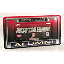 Rico Industries Notre Dame Fighting Irish NCAA Laser Chrome License Plate Frame by Rico