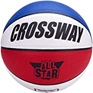 Hislaves 1 Set Basketball,Indoor Outdoor Fashionable Good Elasticity Professional Basketball for Kids School C