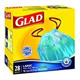 Glad Blue Recycling Bags - Large 77 Litres - Drawstring, 28 Trash Bags