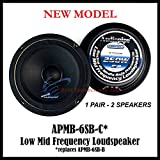 1 PAIR Audiopipe 6 250W Low Mid Frequency Loud speakers APMB-6SB-B FULL RANGE