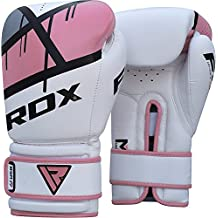 RDX Maya Hide Leather Women Boxing Gloves Gel Sparring Glove Punching Bag Ladies Mitts Training Muay Thai F7