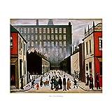 Street Scene (Pendlebury) Poster Print by L.S. Lowry (24 x 20)
