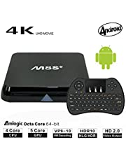 Smart Android TV Box - FAGORY 2GB RAM 8GB ROM with Amlogic S905X Quad Core 2.4G Wifi 4K HD Support Bluetooth 4.0, With Mini Wireless Keyboard & IR Remote