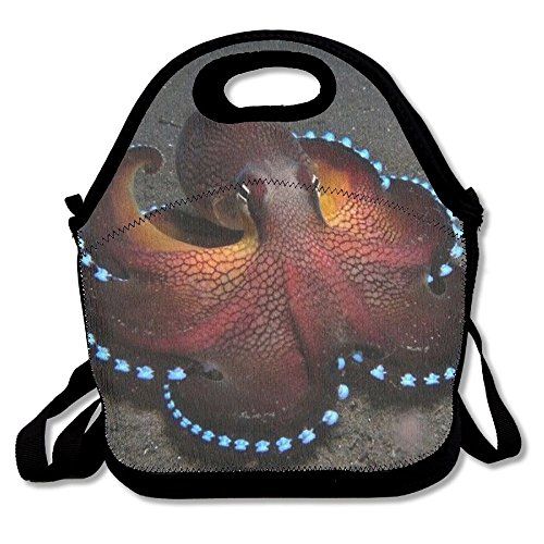 Coconut Octopus Cool Lunch Tote Bags Insulated Waterproof Lunch Box Food Picnic Bags For Adults,Men,Women,Kids