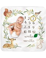 Baby Monthly Milestone Blanket Woodland - Baby Girl Gifts & Baby Boy Gifts - Watch Me Grow Woodland Nursery Décor - European Design - Gender Neutral for Newborn Girl & Boy
