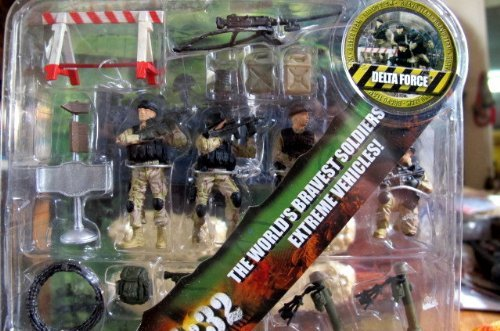 Bravo Team Deluxe Military Playset DELTA FORCE [1:32 Scale] by Bravo Team